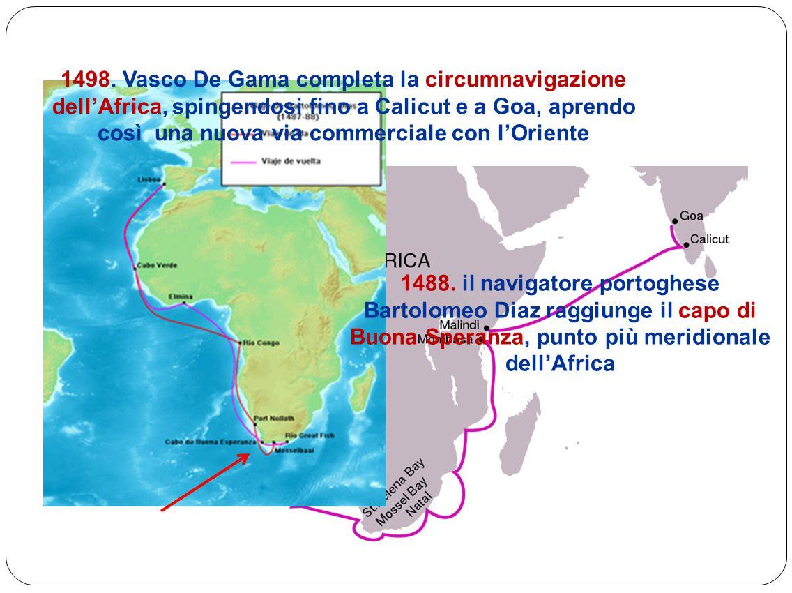 La scoperta dell'America La regina di Spagna Isabella di Castiglia finanzia il viaggio del navigatore genovese Cristoforo Colombo
