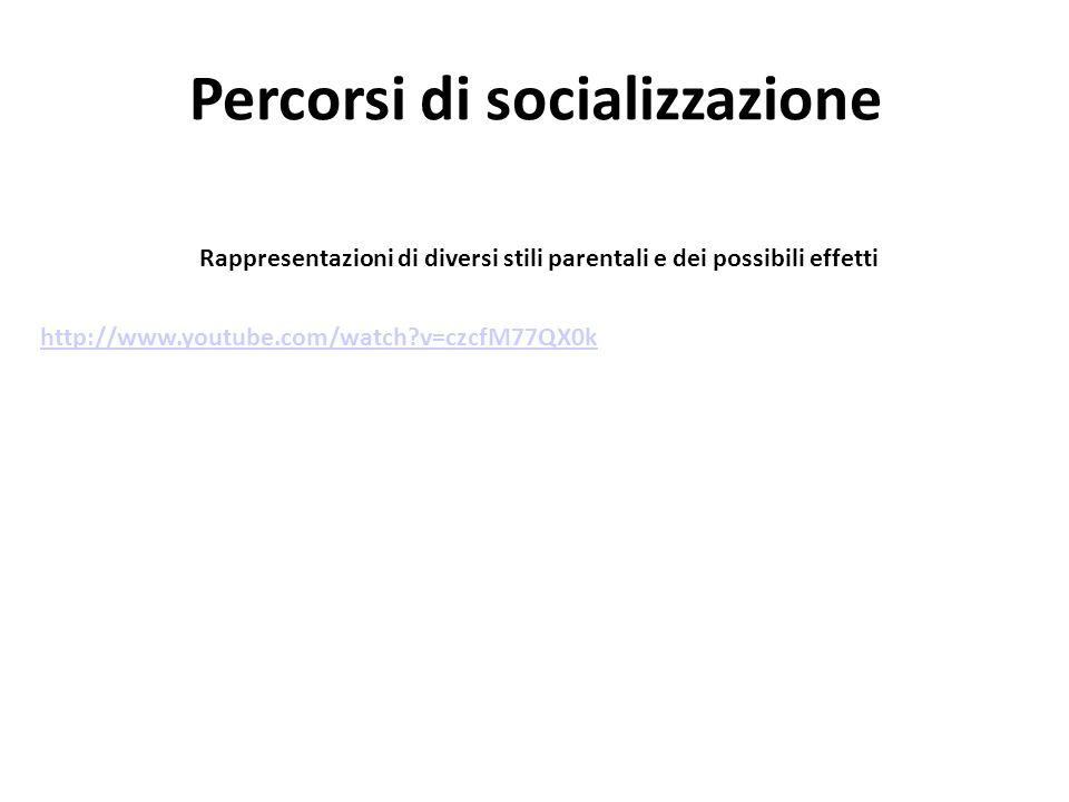Percorsi di socializzazione Rappresentazioni di diversi stili parentali e dei possibili effetti http://www.youtube.com/watch?v=czcfM77QX0k