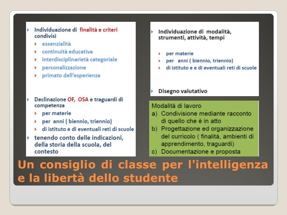 Un consiglio di classe per l'intelligenza e la libertà dello studente