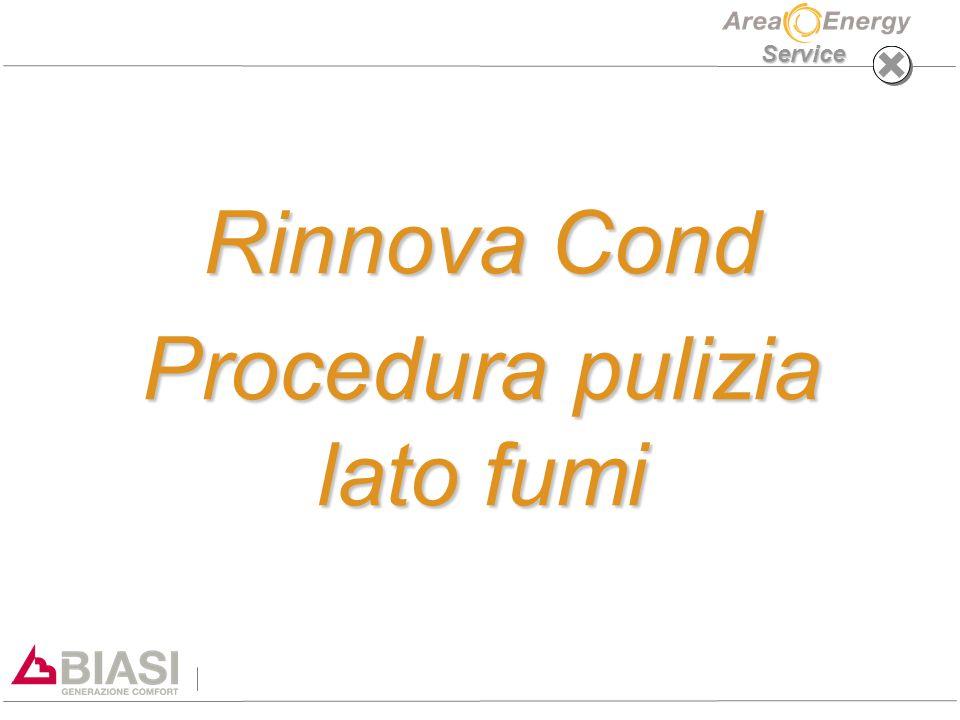 Service Rinnova Cond Procedura pulizia lato fumi
