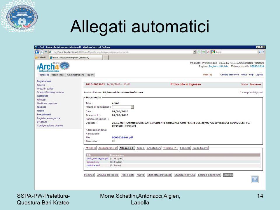 SSPA-PW-Prefettura- Questura-Bari-Krateo Mone,Schettini,Antonacci,Algieri, Lapolla 14 Allegati automatici