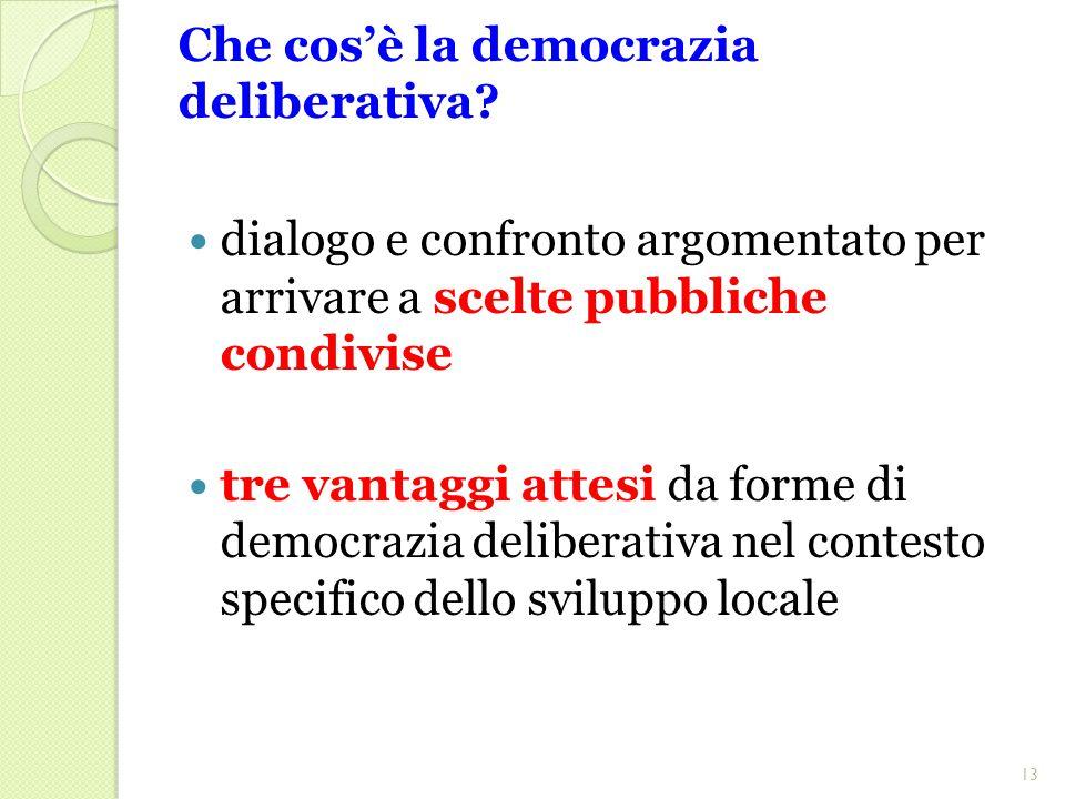 Che cos'è la democrazia deliberativa.