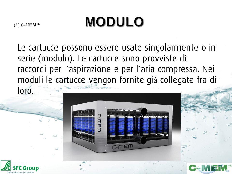 Le cartucce possono essere usate singolarmente o in serie (modulo).