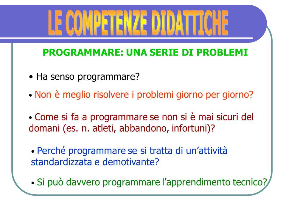 SAPER PROGRAMMARE La caratteristica fondamentale di una buona programmazione non è la rigidità della logica che lo ispira, ma piuttosto la chiarezza d