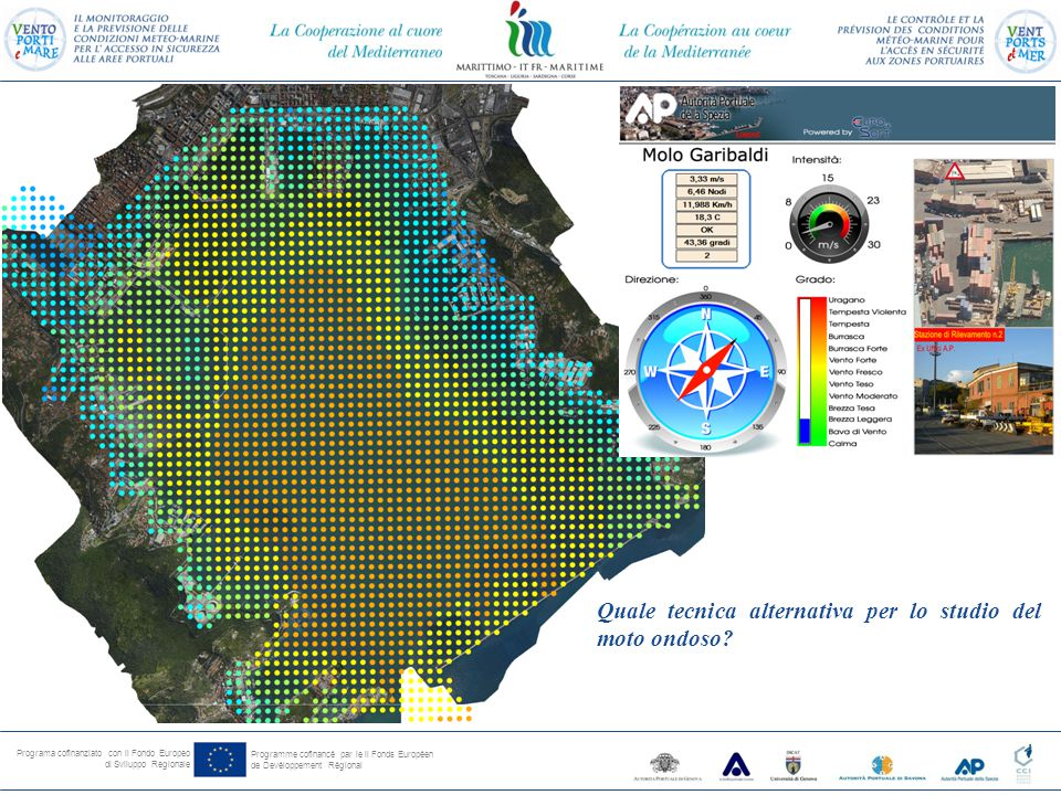 Programa cofinanziato con il Fondo Europeo di Sviluppo Regionale Programme cofinancé par le il Fonds Européen de Devéloppement Régional Quale tecnica alternativa per lo studio del moto ondoso