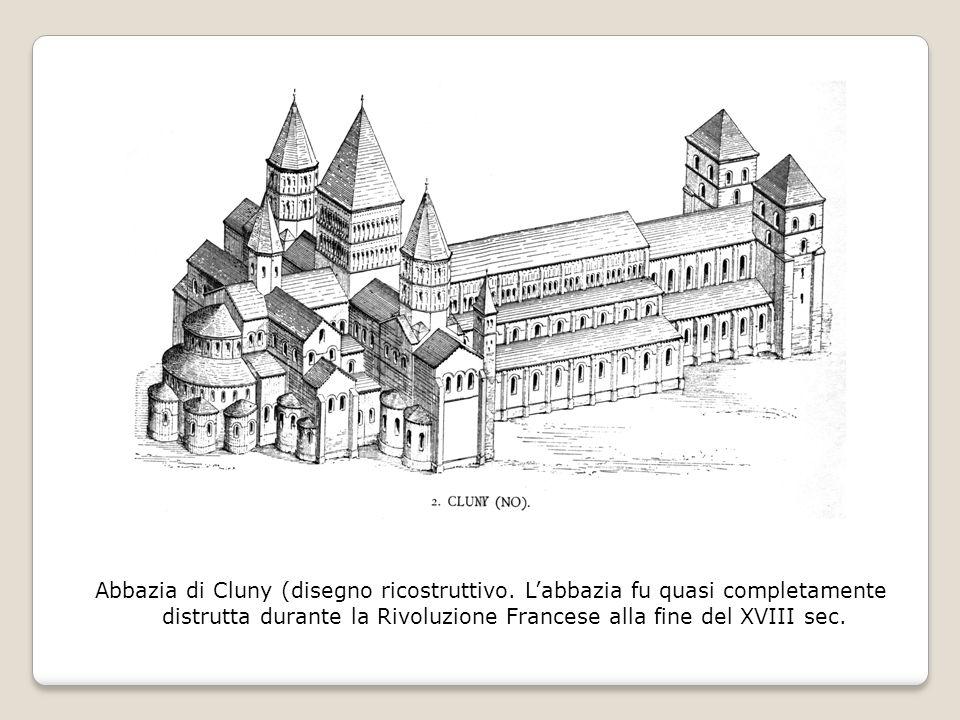 Abbazia di Cluny (disegno ricostruttivo.