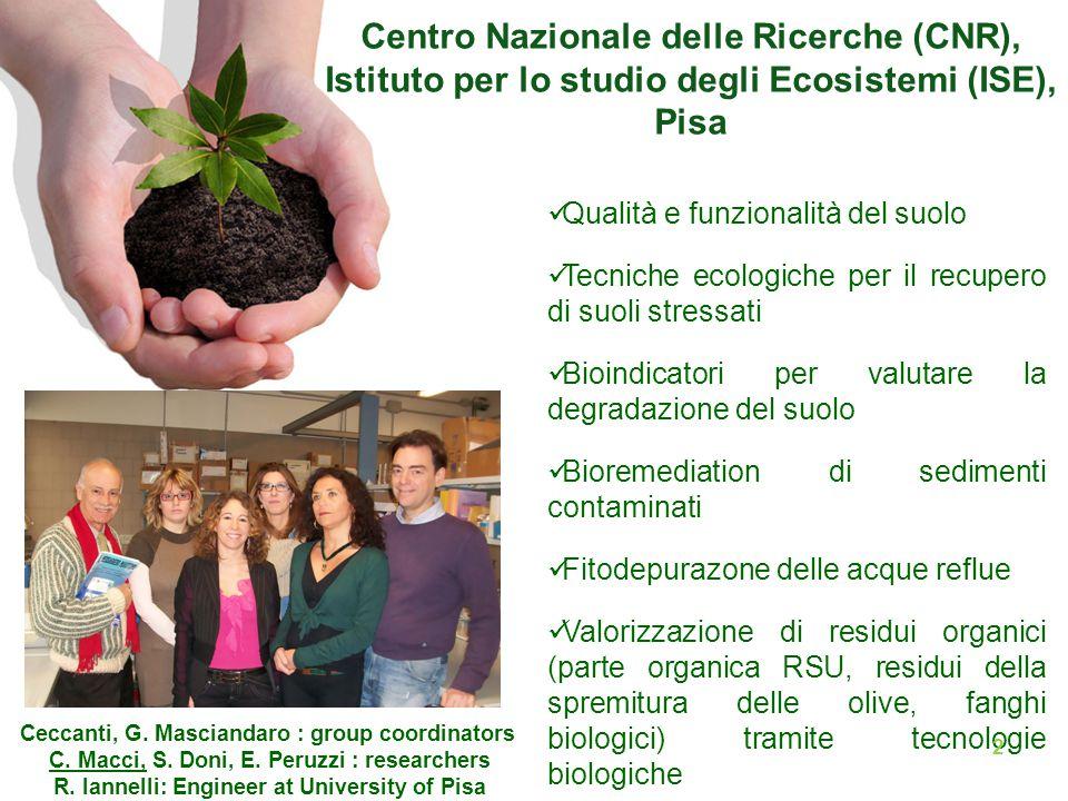 Pubblicazioni Macci C., Masciandaro G., Ceccanti B.