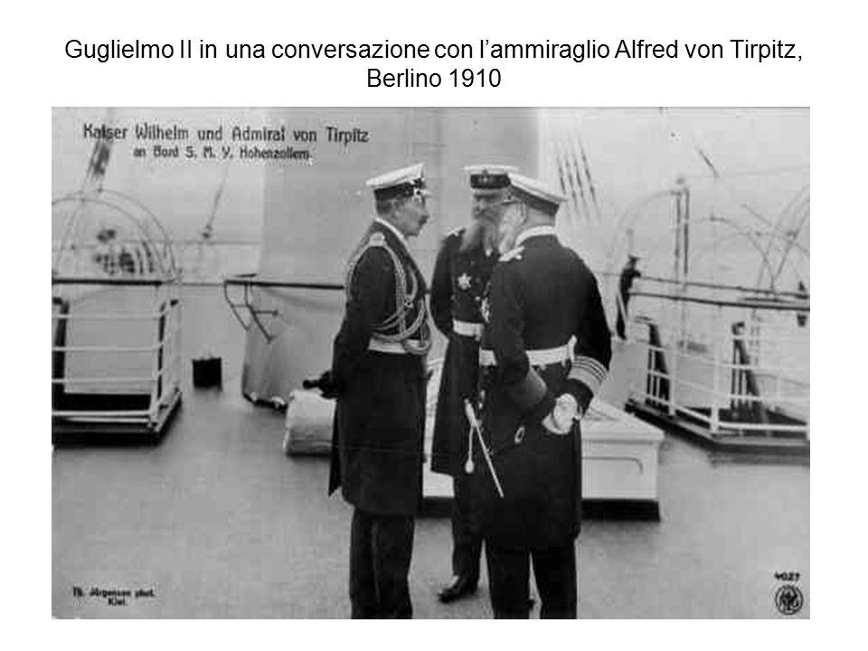 Guglielmo II in una conversazione con l'ammiraglio Alfred von Tirpitz, Berlino 1910