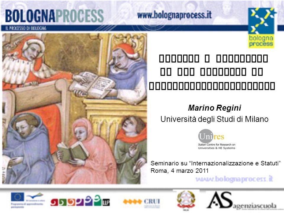 Ragioni e obiettivi di una politica di internazionalizzazione Marino Regini Università degli Studi di Milano Seminario su Internazionalizzazione e Statuti Roma, 4 marzo 2011
