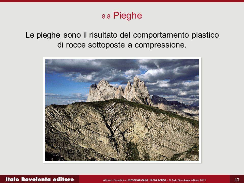 Alfonso Bosellini – I materiali della Terra solida - © Italo Bovolenta editore 2012 13 8.8 Pieghe Le pieghe sono il risultato del comportamento plasti