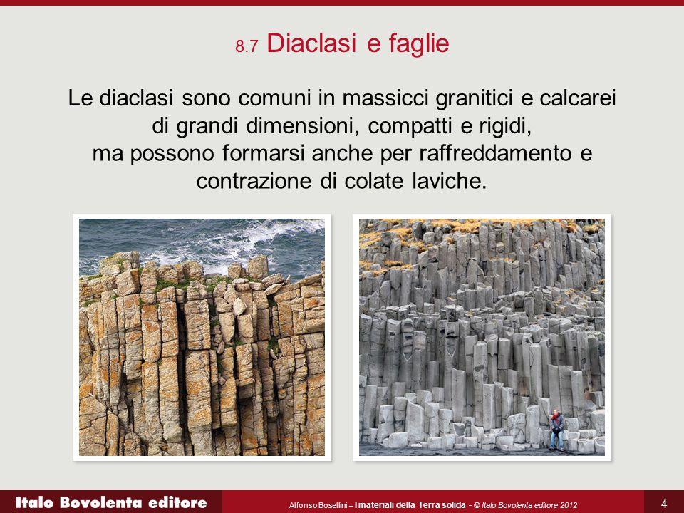 Alfonso Bosellini – I materiali della Terra solida - © Italo Bovolenta editore 2012 4 8.7 Diaclasi e faglie Le diaclasi sono comuni in massicci granit