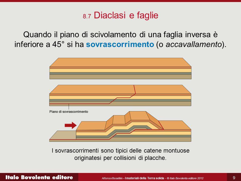 Alfonso Bosellini – I materiali della Terra solida - © Italo Bovolenta editore 2012 9 8.7 Diaclasi e faglie Quando il piano di scivolamento di una fag