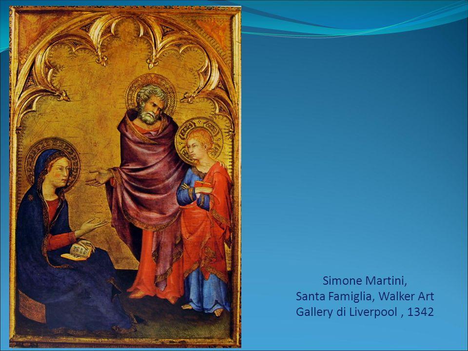 Simone Martini, Santa Famiglia, Walker Art Gallery di Liverpool, 1342