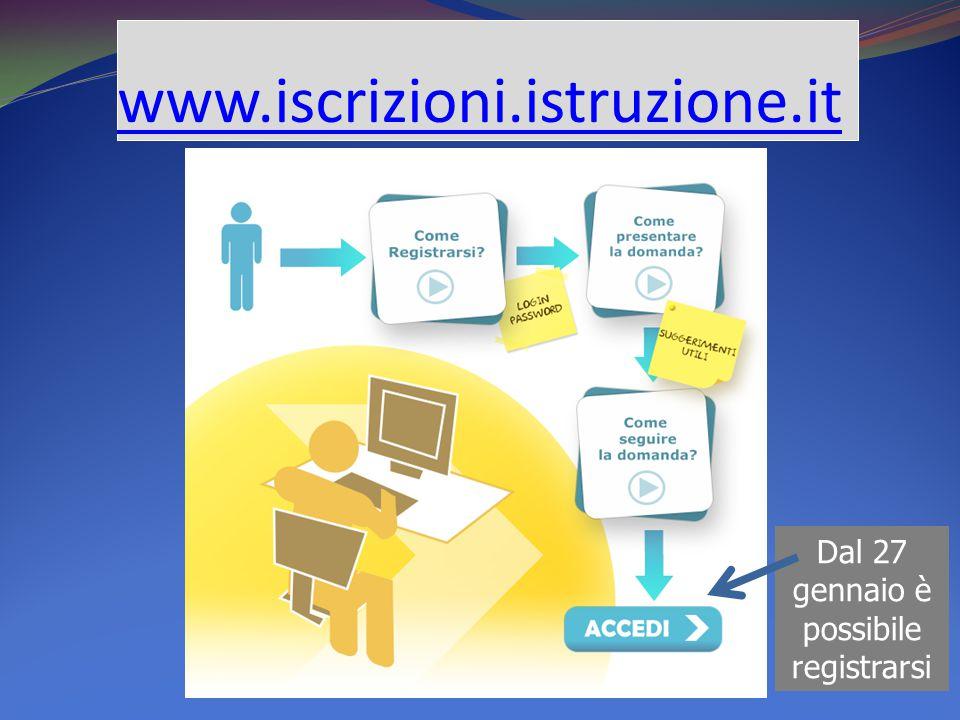 www.iscrizioni.istruzione.it Dal 27 gennaio è possibile registrarsi