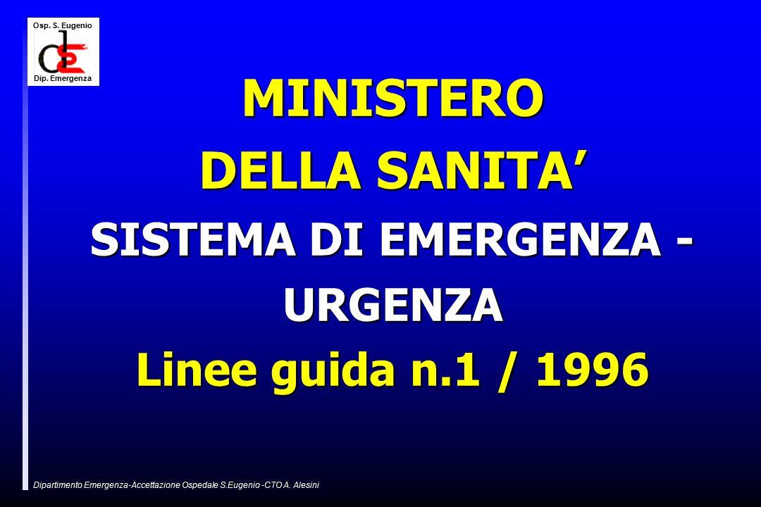 Osp.S. Eugenio Dip. Emergenza Dipartimento Emergenza-Accettazione Ospedale S.Eugenio -CTO A.