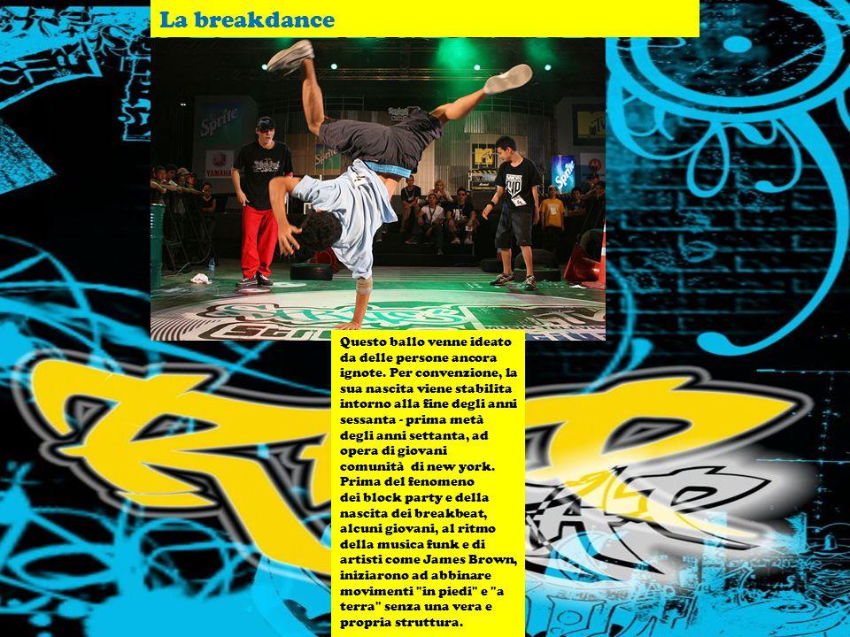 LA STORIA NELLA MUSICA LA MUSICA NELLA STORIA. IL RAP E IL DISAGIO GIOVANILE. La breakdance Questo ballo venne ideato da delle persone ancora ignote.