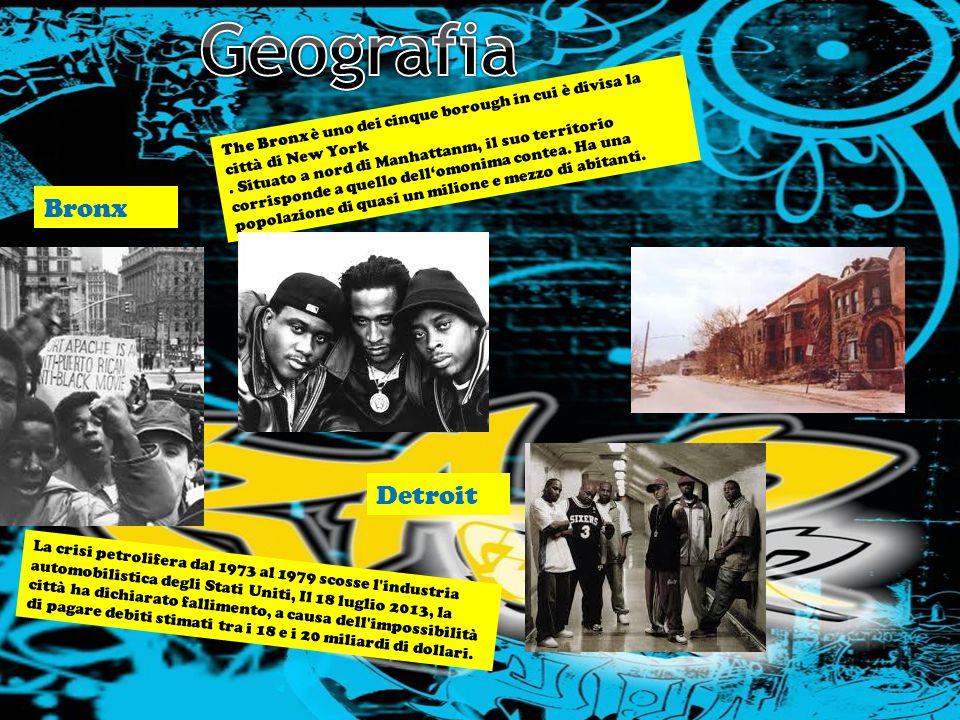 LA STORIA NELLA MUSICA LA MUSICA NELLA STORIA. IL RAP E IL DISAGIO GIOVANILE. Bronx Detroit The Bronx è uno dei cinque borough in cui è divisa la citt