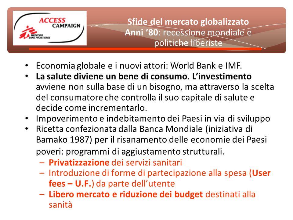 Economia globale e i nuovi attori: World Bank e IMF.