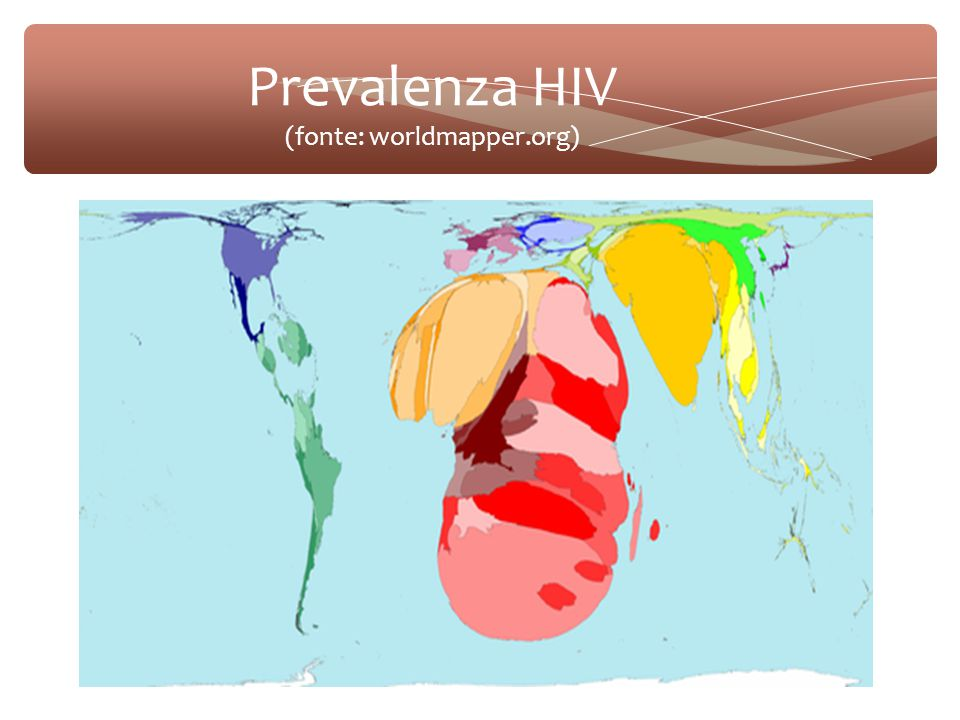 Prevalenza HIV (fonte: worldmapper.org)