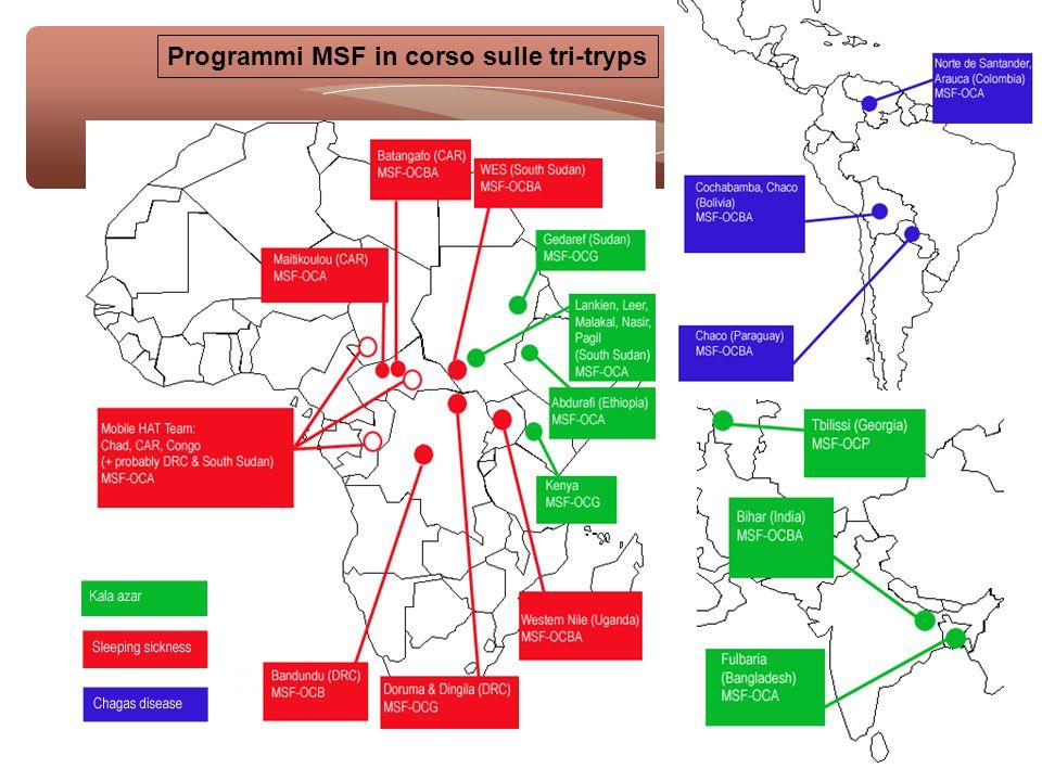 Programmi MSF in corso sulle tri-tryps