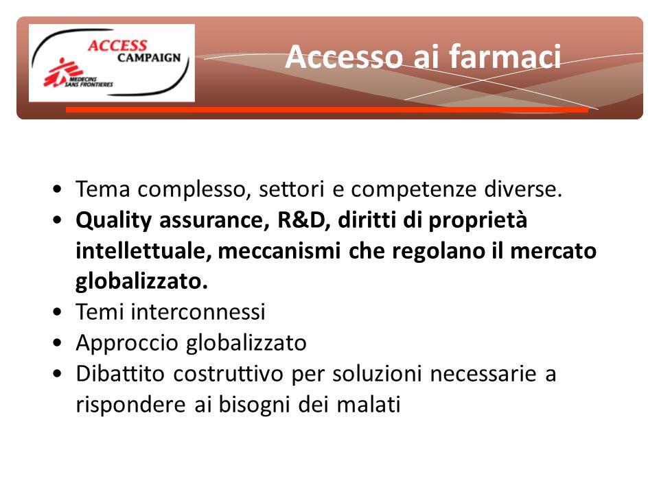 Tema complesso, settori e competenze diverse.
