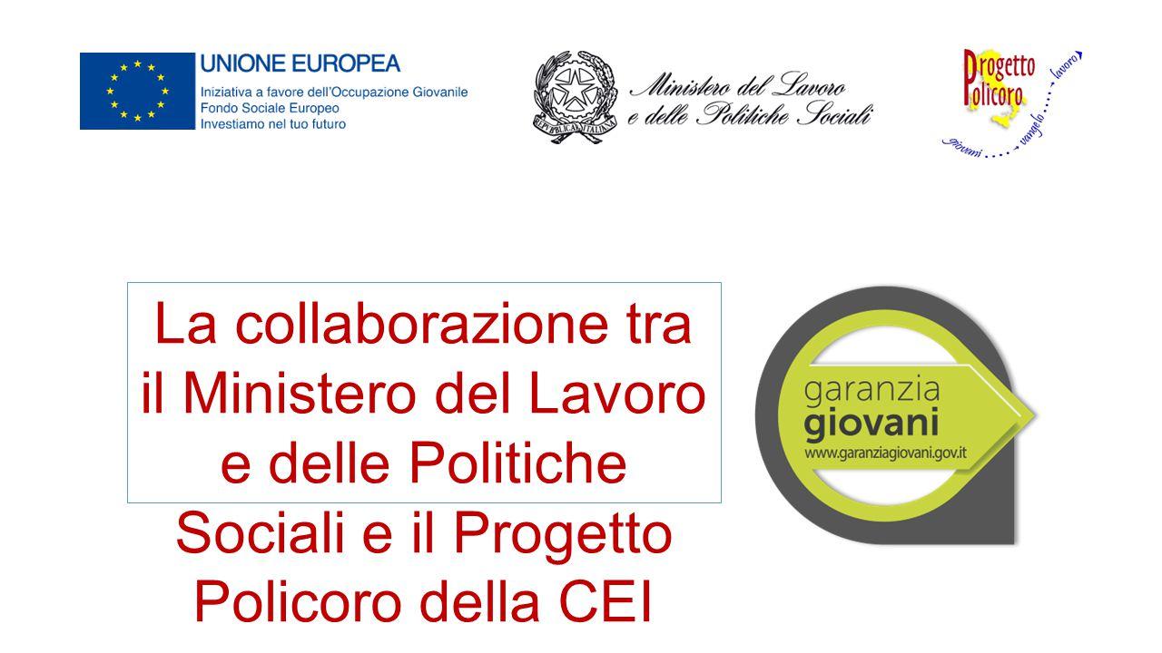La collaborazione tra il Ministero del Lavoro e delle Politiche Sociali e il Progetto Policoro della CEI