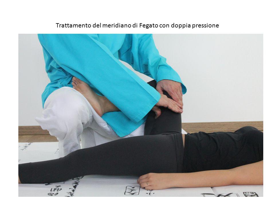 Trattamento del meridiano di Fegato con doppia pressione