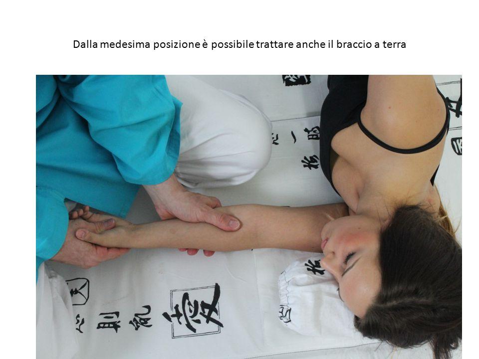 Dalla medesima posizione è possibile trattare anche il braccio a terra