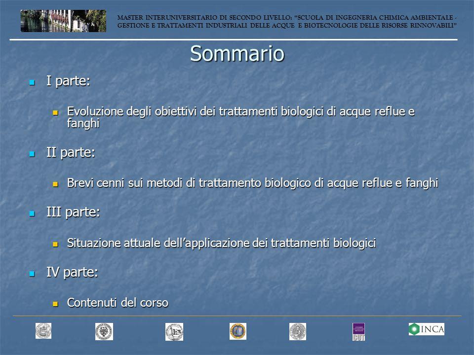 Processo Bardenpho 5 o Phoredox 5 MASTER INTERUNIVERSITARIO DI SECONDO LIVELLO: SCUOLA DI INGEGNERIA CHIMICA AMBIENTALE - GESTIONE E TRATTAMENTI INDUSTRIALI DELLE ACQUE E BIOTECNOLOGIE DELLE RISORSE RINNOVABILI