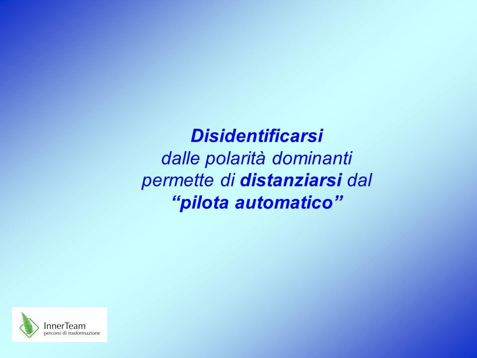 """Disidentificarsi dalle polarità dominanti permette di distanziarsi dal """"pilota automatico"""""""