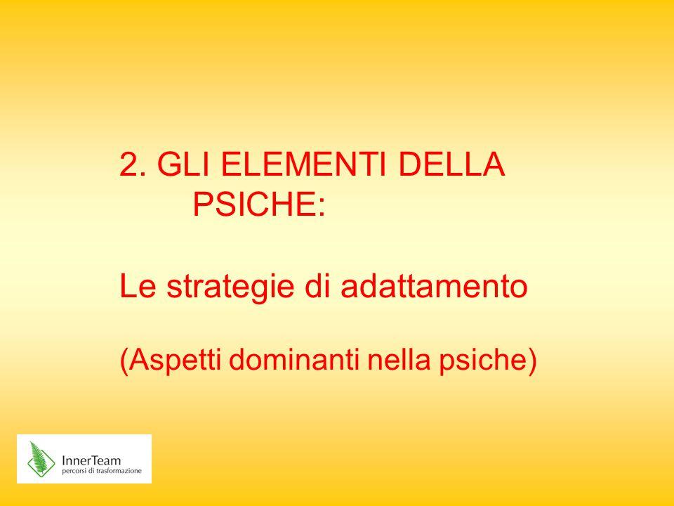 2. GLI ELEMENTI DELLA PSICHE: Le strategie di adattamento (Aspetti dominanti nella psiche)