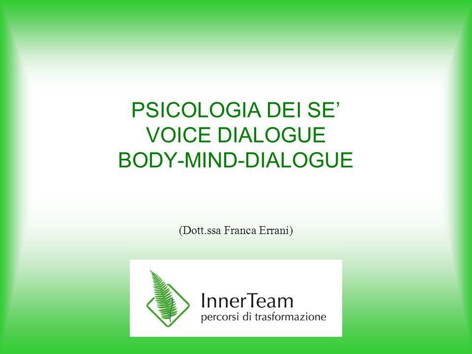 Gli esempi che seguono sono volutamente sintetici e non entrano nel merito delle tecniche di Voice Dialogue e di BMD applicate.