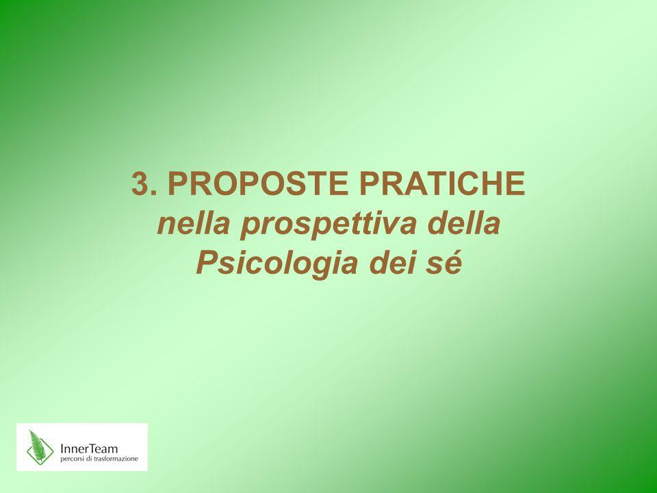 3. PROPOSTE PRATICHE nella prospettiva della Psicologia dei sé