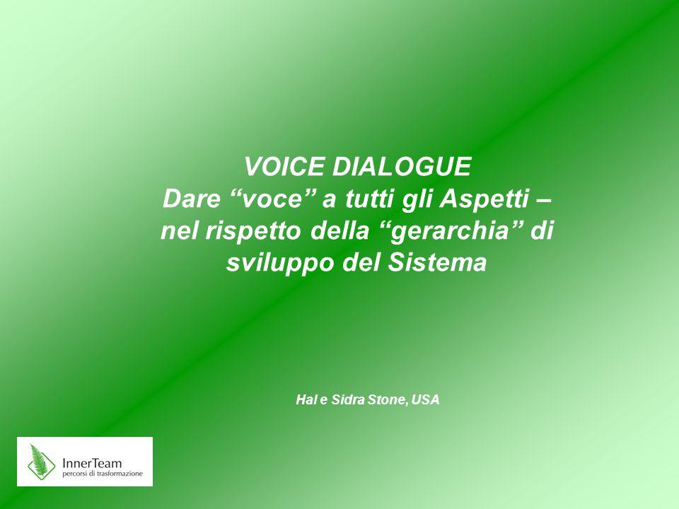 """VOICE DIALOGUE Dare """"voce"""" a tutti gli Aspetti – nel rispetto della """"gerarchia"""" di sviluppo del Sistema Hal e Sidra Stone, USA"""