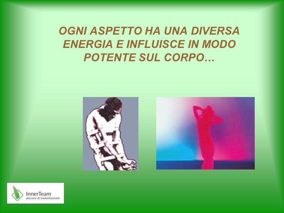 OGNI ASPETTO HA UNA DIVERSA ENERGIA E INFLUISCE IN MODO POTENTE SUL CORPO…