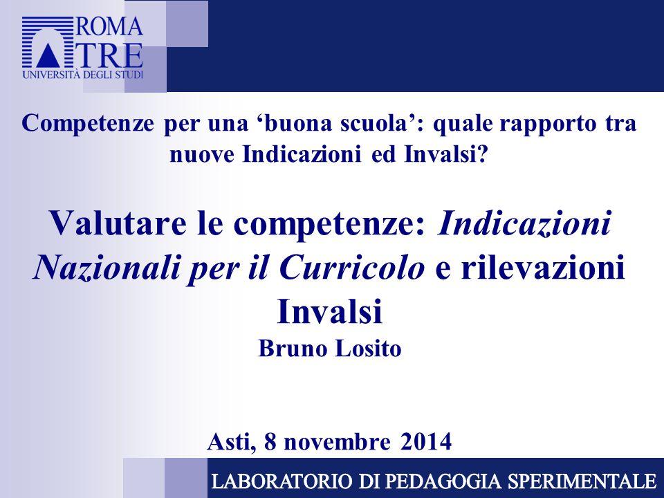 Competenze per una 'buona scuola': quale rapporto tra nuove Indicazioni ed Invalsi.