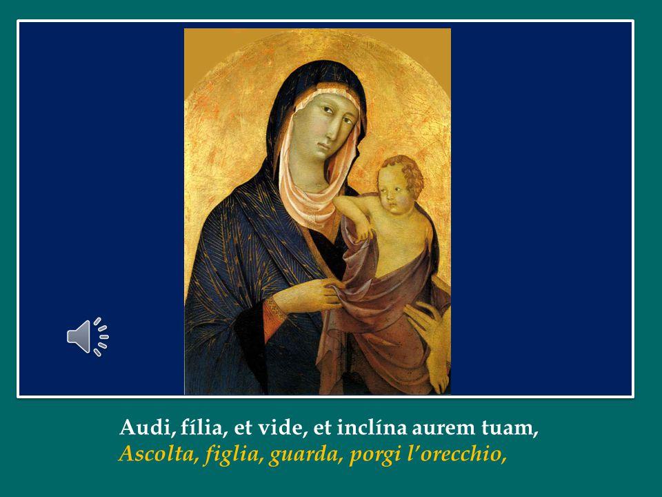 Chiediamo alla Vergine Maria, Madre dell'ascolto e del servizio, che ci insegni a meditare nel nostro cuore la Parola del suo Figlio, a pregare con fedeltà, per essere sempre di più attenti concretamente alle necessità dei fratelli.