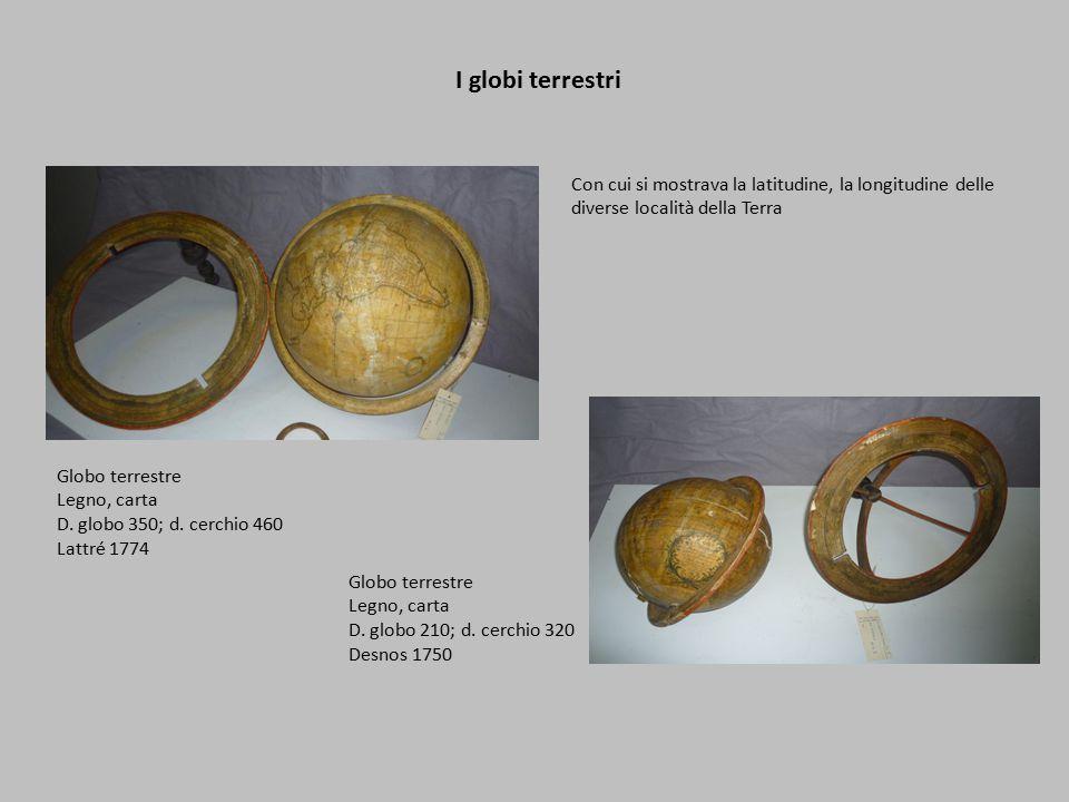 I globi terrestri Globo terrestre Legno, carta D.globo 350; d.