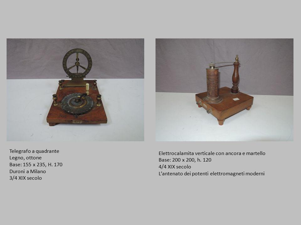 Telegrafo a quadrante Legno, ottone Base: 155 x 235, H.