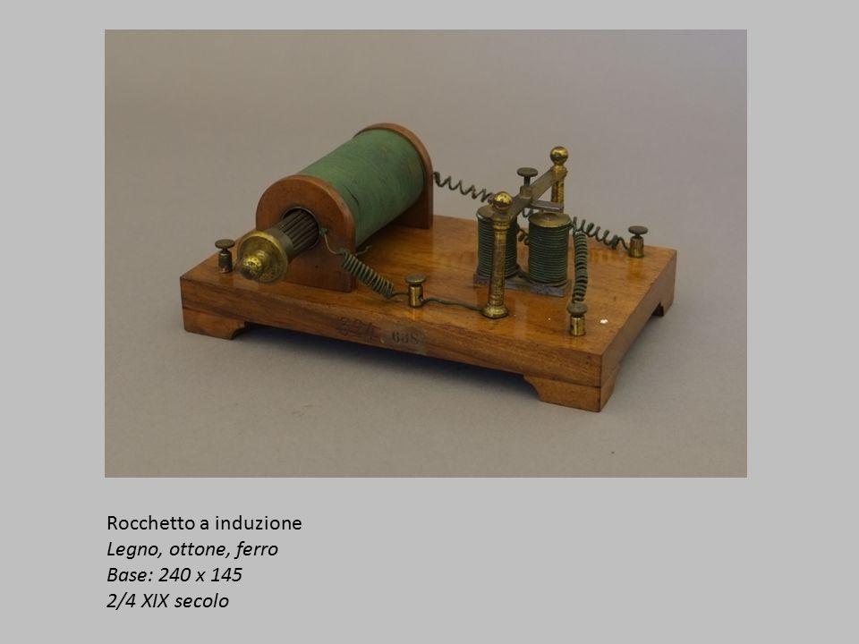 Rocchetto a induzione Legno, ottone, ferro Base: 240 x 145 2/4 XIX secolo