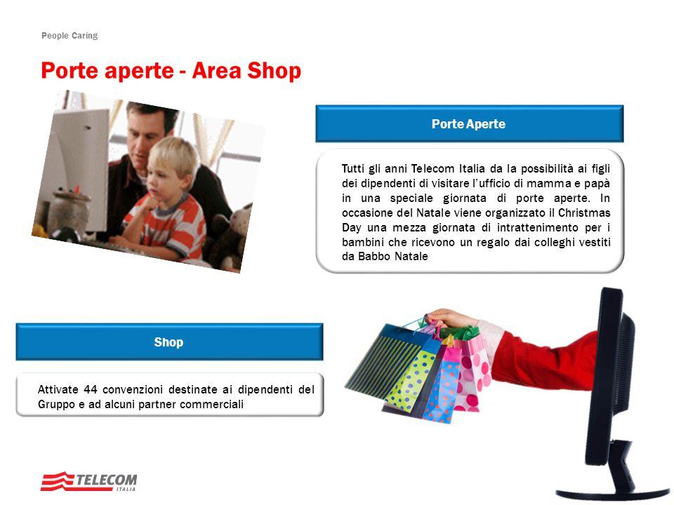 People Caring Tutti gli anni Telecom Italia da la possibilità ai figli dei dipendenti di visitare l'ufficio di mamma e papà in una speciale giornata di porte aperte.