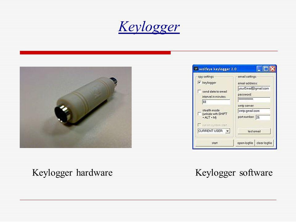 Keylogger Keylogger hardwareKeylogger software