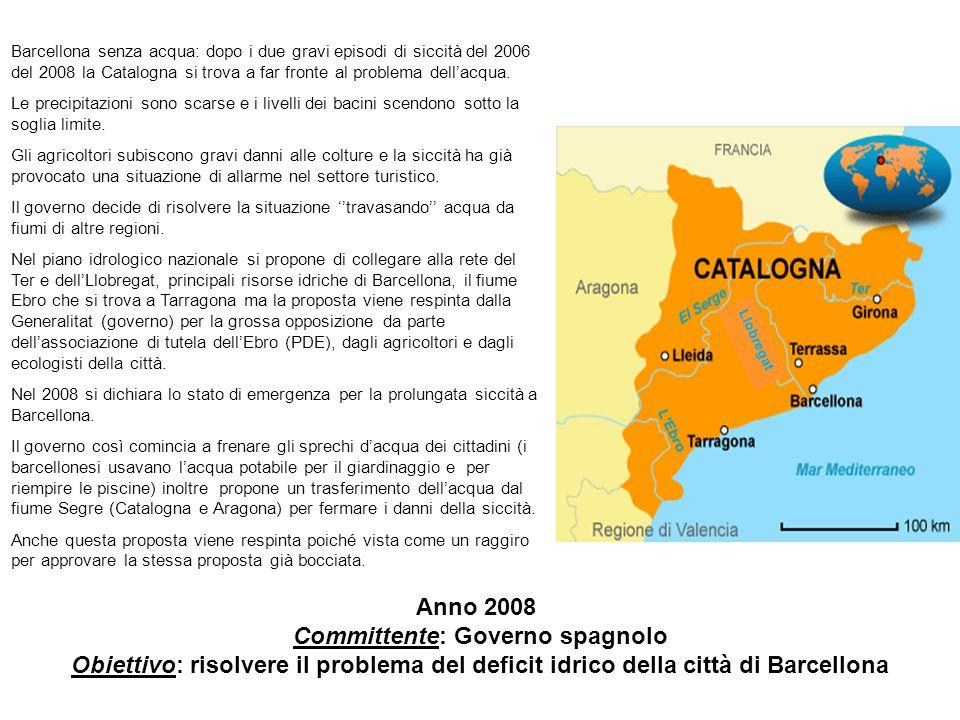 Barcellona senza acqua: dopo i due gravi episodi di siccità del 2006 del 2008 la Catalogna si trova a far fronte al problema dell'acqua.