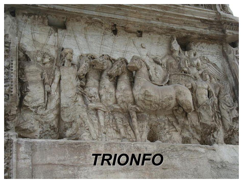 Roma, Palazzo dei Conservatori Marco Aurelio, incede sul carro trainato da quattro cavalli.