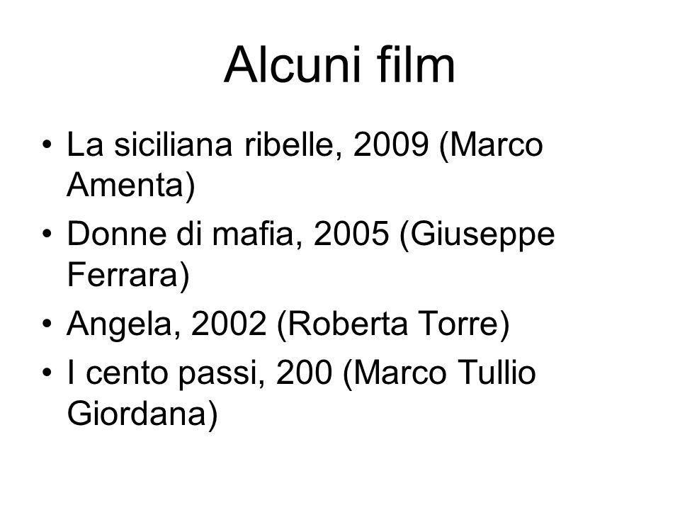 Alcuni film La siciliana ribelle, 2009 (Marco Amenta) Donne di mafia, 2005 (Giuseppe Ferrara) Angela, 2002 (Roberta Torre) I cento passi, 200 (Marco T