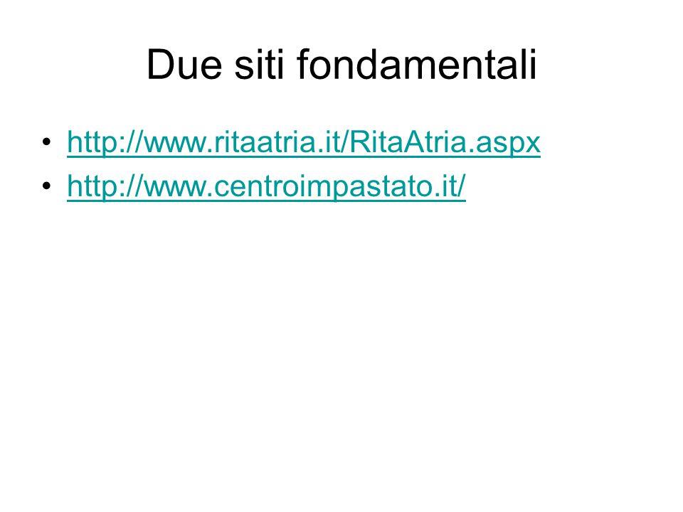 Due siti fondamentali http://www.ritaatria.it/RitaAtria.aspx http://www.centroimpastato.it/