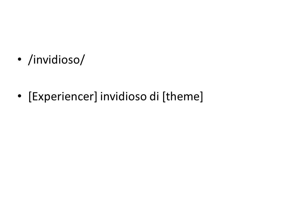 /invidioso/ [Experiencer] invidioso di [theme]