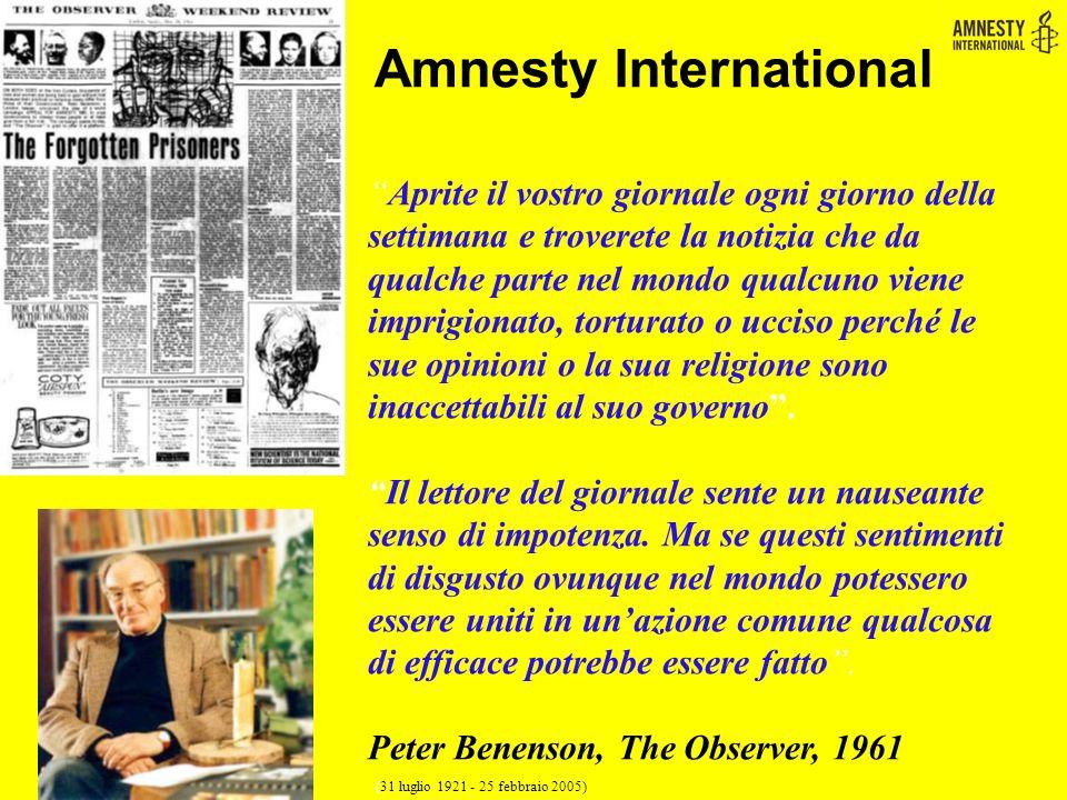  E' un movimento internazionale, indipendente da qualsiasi governo, parte politica, interesse economico o credo religioso.