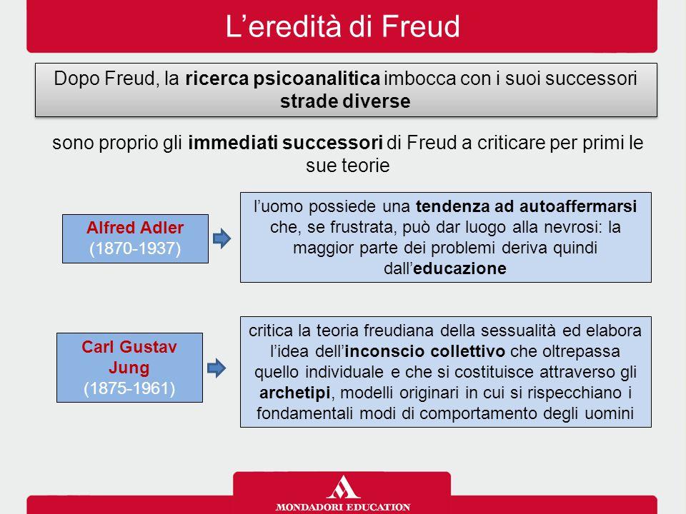 L'eredità di Freud Dopo Freud, la ricerca psicoanalitica imbocca con i suoi successori strade diverse sono proprio gli immediati successori di Freud a