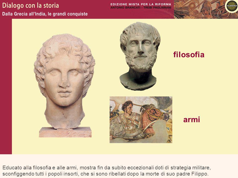Nel 334 a.C.Alessandro riprende i disegni paterni e marcia contro il potente impero persiano.
